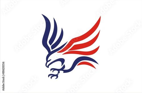 Fotografie, Tablou  Eagle Fly american flag