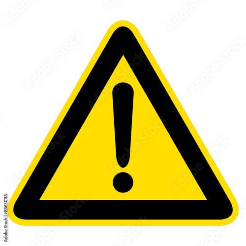 Fotomural  Warnzeichen