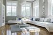 canvas print picture - Wohnzimmer in Altbauwohnung