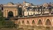 view of the stone bridge at Bordeaux