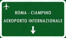 Rome Italy Airport Highway Sign