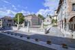 Feltre Piazza maggiore provincia Belluno Veneto in Italia per turismo