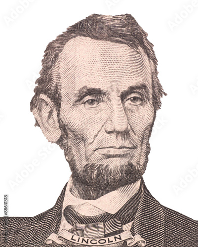 Photographie  Portrait of first U.S. president Abraham Lincoln
