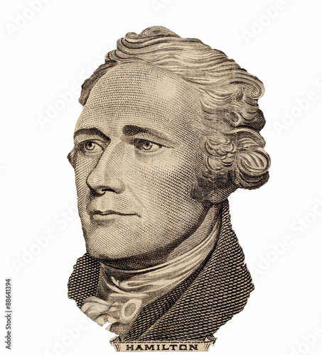 Fotomural Portrait of  U.S. president Alexander Hamilton