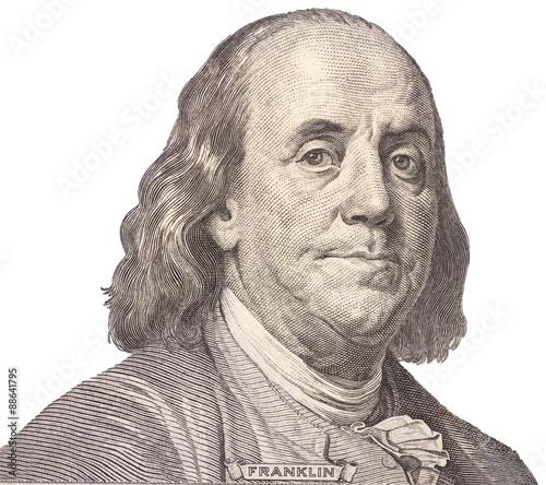 Photo Portrait of  U.S. president Benjamin Franklin