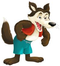 Cartoon Wolf - Illustration For The Children