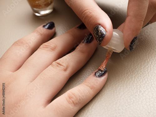 The Making Of Nail Art Buy This Stock Photo And Explore Similar