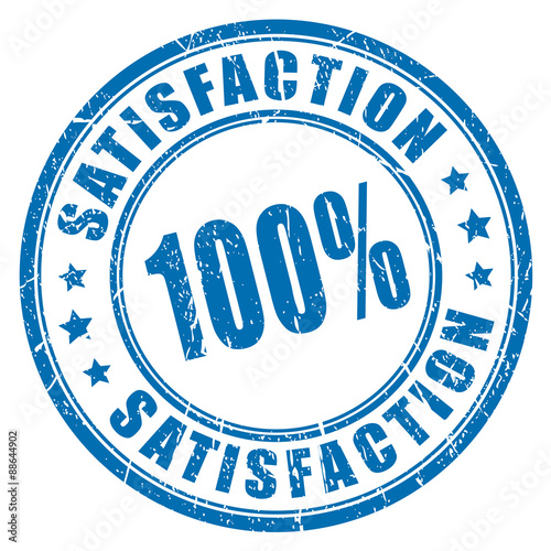 Fotografía  100 satisfaction guarantee stamp