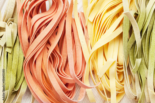 Fotografia  Colorful italian pasta