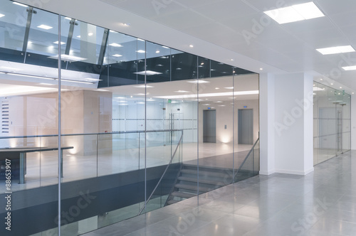 Open plan office reception