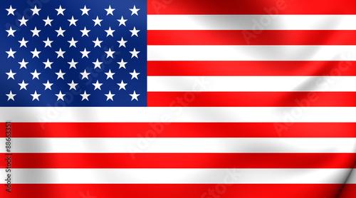 Flag of USA Canvas Print