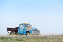 Old Truck Left On A Middle Of Nowhere