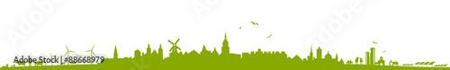Poster Blanc Stadt und Land