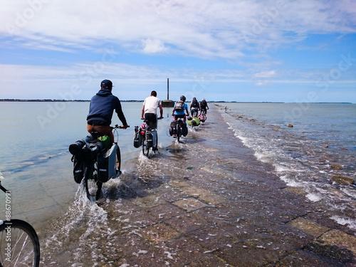 Fotomural Traversée du Gois à vélo