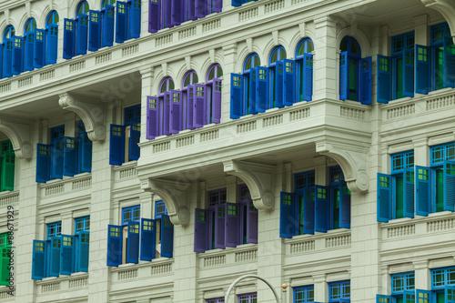 Photo  Heritage colourful Windows in Singapore