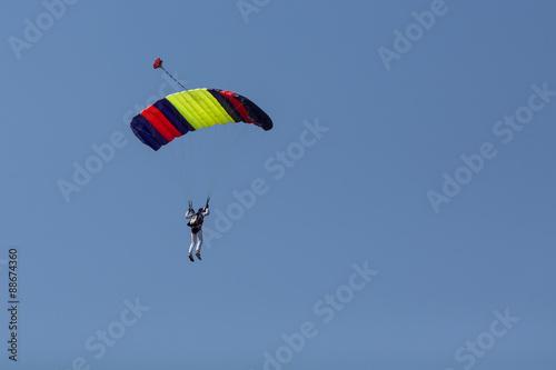Foto op Canvas Luchtsport Paraglider flying in summer day