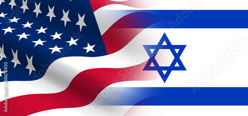Photo  The concept of political relationships the United States with Israel