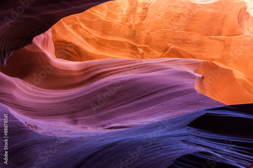 Stickers pour porte Arizona Antelope Canyon, Arizona, Colors