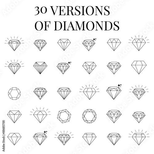 Fotografía Diamond  icons set