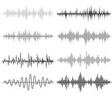 Black Music Sound Waves. Audio...