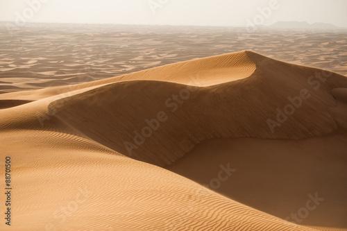 Poster de jardin Desert de sable Sand dunes in Dubai desert