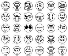 Set Vector Circle Smiles