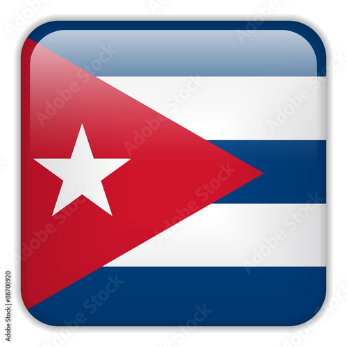 Cuba Flag Smartphone Application Square Buttons Wallpaper Mural