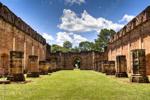 Poster Rudnes Old Jesuit ruins in Encarnacion, Paraguay