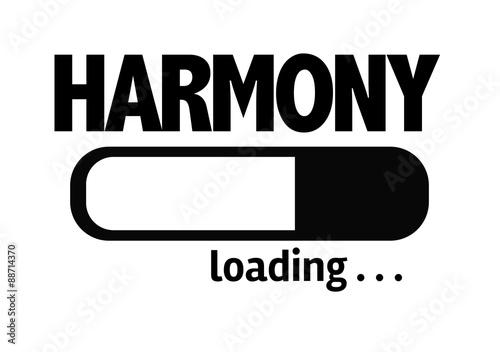 Fotografia  Progress Bar Loading with the text: Harmony