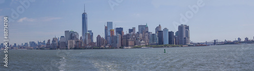 Fotografie, Tablou  Panoramic View Hudson River and New York City Skyline