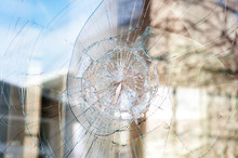 Bullet Holes In The Window Of ...