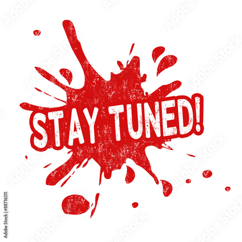 Stay tuned stamp Canvas-taulu