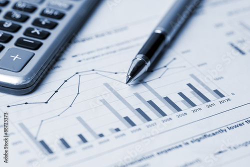 financial analysis concept Wallpaper Mural