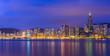 Beautiful HongKong cityscape at sunset (Hong Kong)