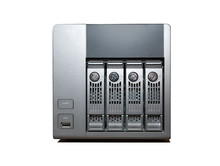 4 Bay NAS Drive Isolated On Wh...