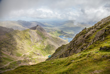 View Of Lake From Snowdon