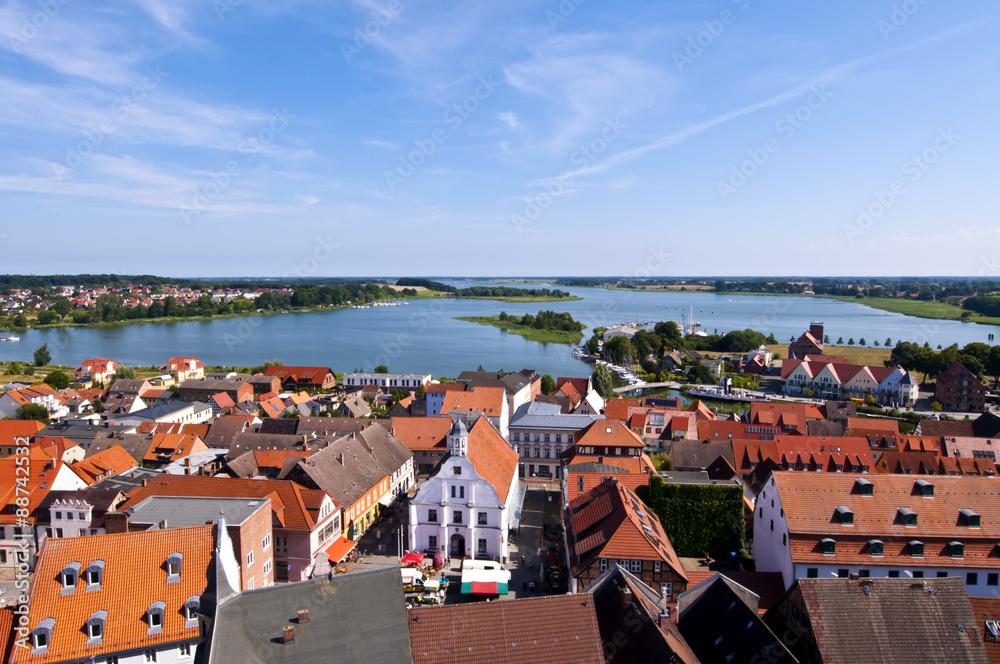 Fototapety, obrazy: Blick über Usedom von Wolgast aus