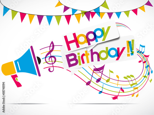 megaphone : happy birthday Canvas-taulu