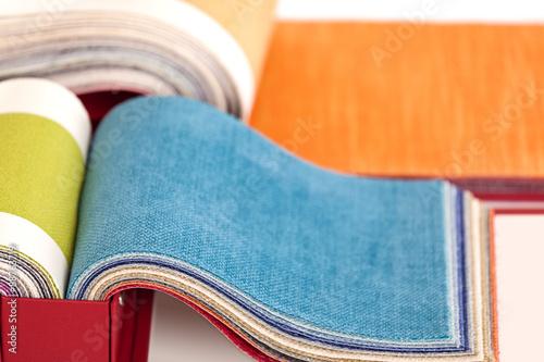 Foto op Aluminium Stof Upholstery fabric samples