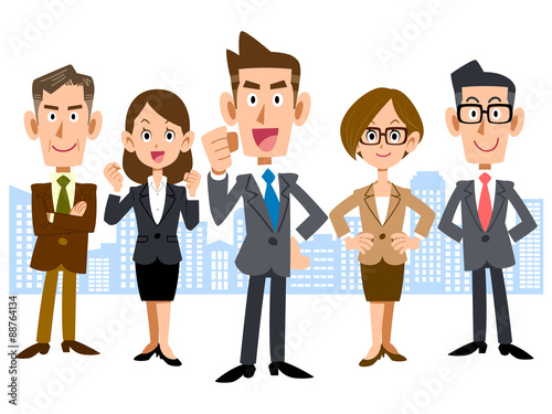 Fotografie, Obraz  ビジネスマンのチーム