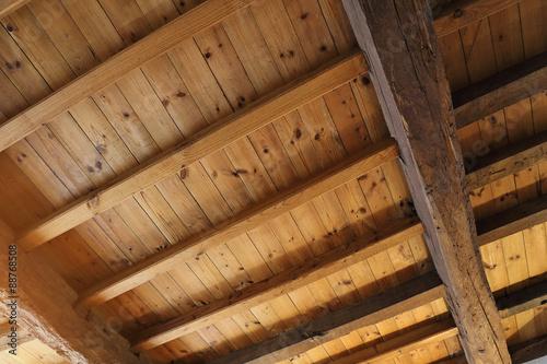 Plafond Avec Poutres Apparentes Buy This Stock Photo And Explore