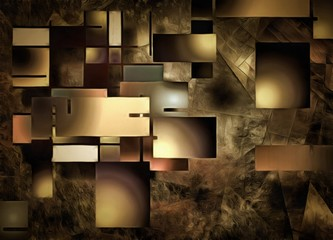 Fototapeta Abstrakcja Abstract Rectangular Shapes Composition