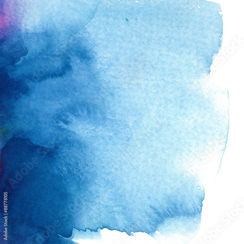Fotografie, Obraz  abstract blue watercolor background/ divorce/ vector illustration