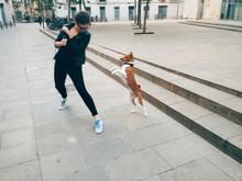 Girl Dances With Dog