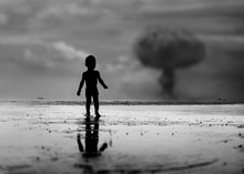 Child Looking On Nuclear War E...