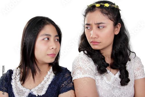 Photo  Girl friends in a fight