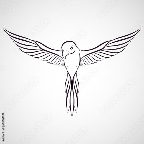Canvas Prints Owls cartoon Parrot logo