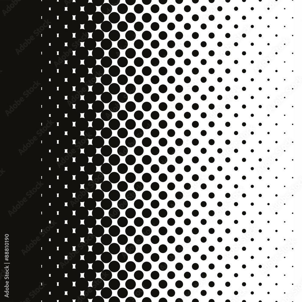Fototapeta Halftone dots pattern gradient in vector format