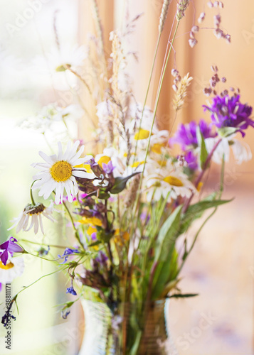 Photo  Summer bouquet of wild flower