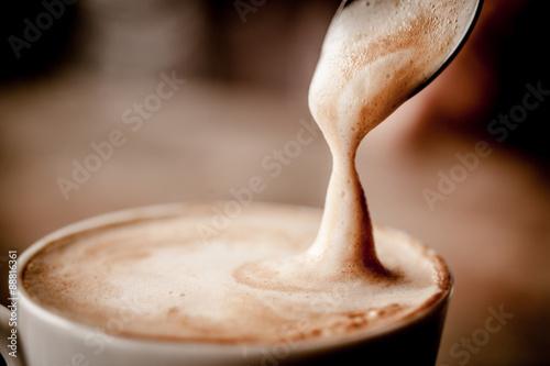 Stampa su Tela Cup of Cappuccino Coffee